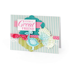 Great Friend Peacock Card by Debi Adams