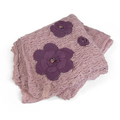 Embellished Flower Shawl