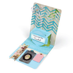 Sweetest Chevron Pop Up Card