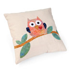 Whoos Looking at Me Pillow by Linda Nitzen
