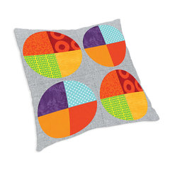 Quarter Circles Celebration Pillow by Linda Nitzen