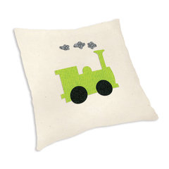 Train Engine Pillow by Linda Nitzen