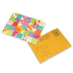 Mailable Fabric Postcard by Linda Nitzen