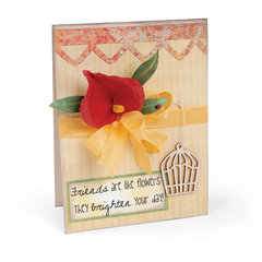 Friends are like Flowers Card by Deena Ziegler