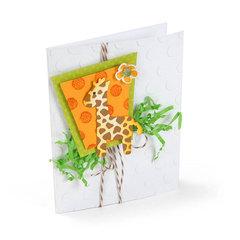 Giraffe and Polka Card by Debi Adams