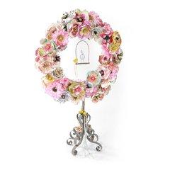 Paper Flower Wreath by Brenda Walton