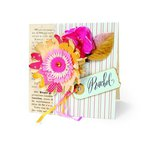 Pink Vintage Greeting Card by Brenda Walton