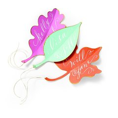 Leaf Gift Tags or Escort Cards by Brenda Walton