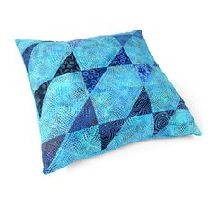 X-Quisite Batik Pillow by Linda Nitzen