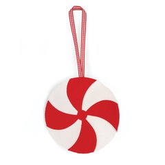 Candy Swirl Ornament by Linda Nitzen
