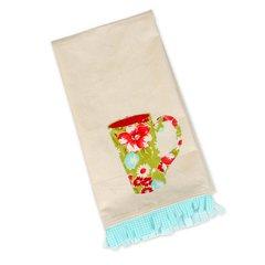 Tall Mug Tea Towel by Kathy Ranabargar