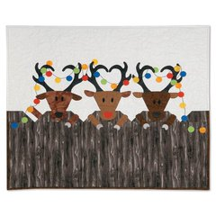 Reindeer Games Wall Hanging by Kathy Ranabargar