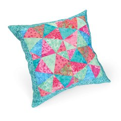 Jeweled Kaleidoscope Pillow by Linda Nitzen