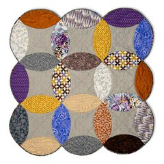 Full Melon Double Wedding Ring Quilt by Victoria Findlay Wolfe