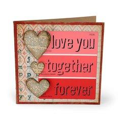 Love You Hearts Card