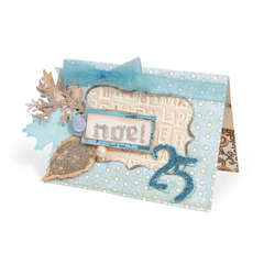 Noel Winter Leaves Card by Deena Ziegler