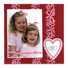 Giggles and Grins, Hearts and Flowers Scrapbook Page - Deena Ziegler