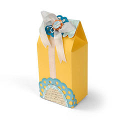 Yellow Gift Bag featuring new Sizzix Thinlits Dies