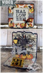 Clear Creations! Halloween Card by Karen Burniston