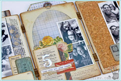 Beautiful Moments Cabinet Card Accordion Album by Tammy Tutterow