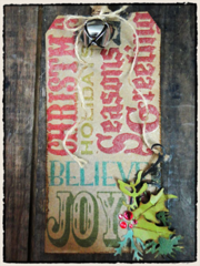 Tim Holtz 2011 12 Tags of Christmas - Tag 3