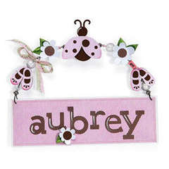 Lady Bug Name Plate by Debi Adams