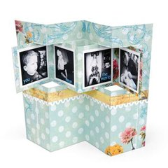 You Mean the World Accordion Card by Beth Reames