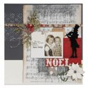 Christmas Carol Memories Scrapbook Page by Debi Adams
