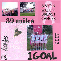 Scrap Pink Breast Cancer Walk