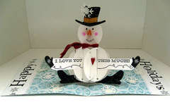 Pop Up Snowman Card by Wendee Philips