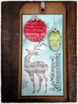 Tim Holtz 2011 12 Tags of Christmas Tag 5 Alternate Project