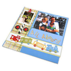 All Aboard Scrapbook Page