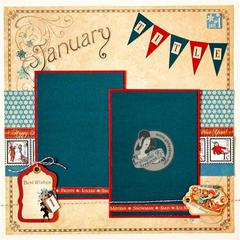 Graphic 45 - Place in Time January Layout