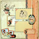 Graphic 45 - Place in Time June Layout