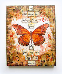 Butterfly Canvas- Prima Finnabair Products