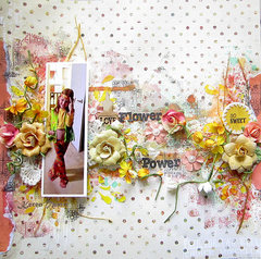 Flower Power- Cigar Box secrets and Finnabair Art Mediums