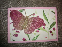 Glitter mix butterfly card