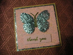 Tinsel Butterfly Card