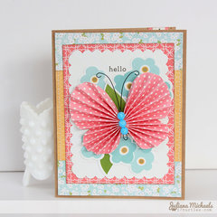 Hello Butterfly Card *Pebbles Garden Party*