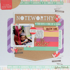 Noteworthy Scrapbook Page *Elle's Studio*
