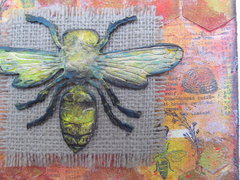Bee Canvas Detail