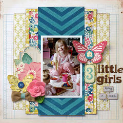 3 Little Girls Having a Picnic - My Creative Scrapbook