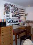 All of peg board, desk, and dressers