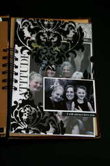 Family Minibook Transparent Damask Page - Teresa Collins New Family Matters Collection