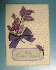 Lilacs sympathy card