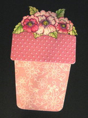 Flower Pot Birthday card