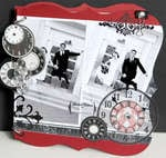 Fun Black/Red/White Wedding Scrapbook