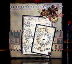 Time for love card (Pages in Time Dt Challenge
