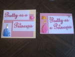 Princess Party Cards