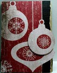 Three Ornament Card